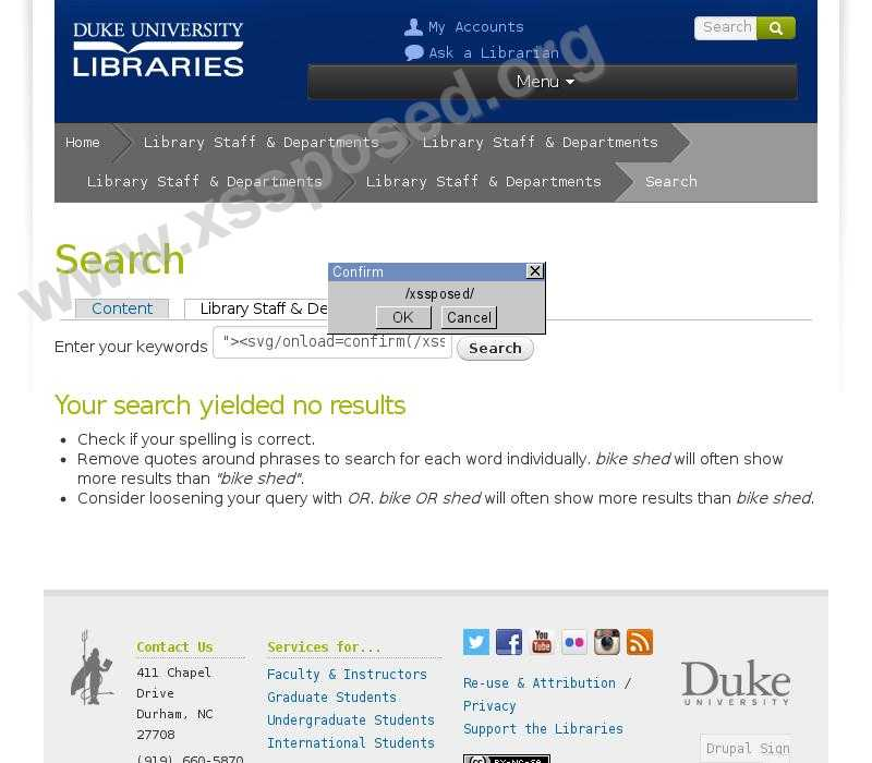 library.duke.edu  vulnerability