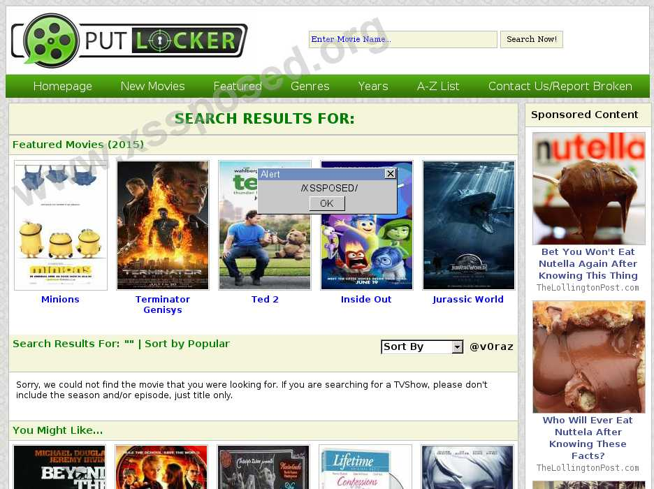 putlocker.is  vulnerability
