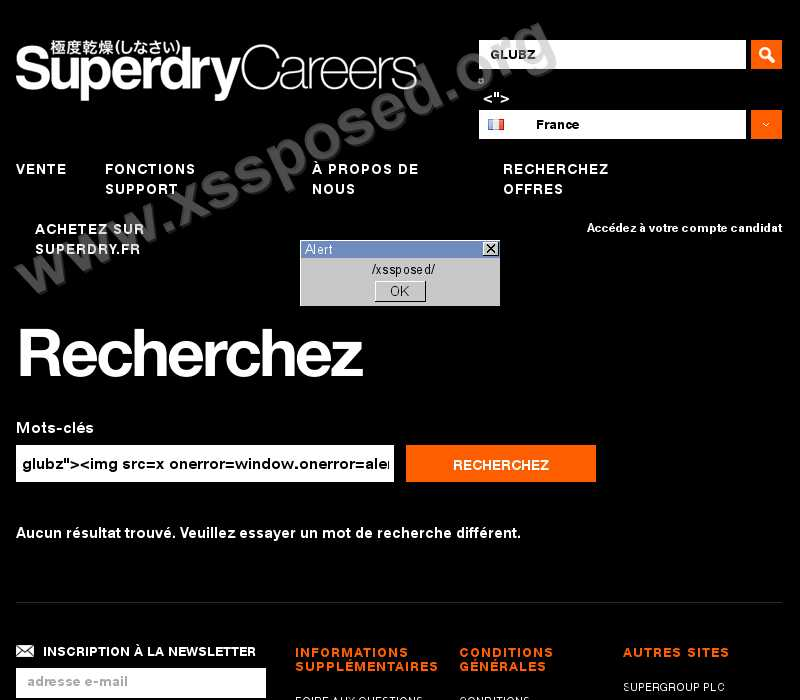 carrieres.superdry.fr  vulnerability