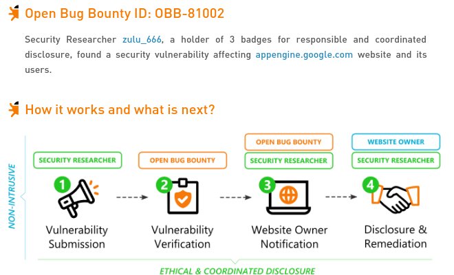 appengine google com Open Redirect vulnerability | Open Bug